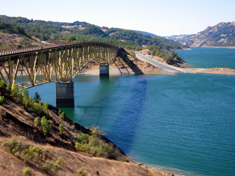Bridge Over Lake Sonoma, One Of The Attractions Making Sonoma County One Of  The Top U201c