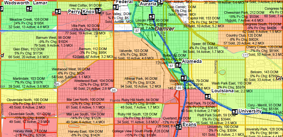 Denver Area Market Trends Map
